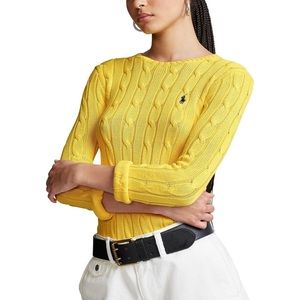 Ralph Lauren Yellow Cable Knit Sweater